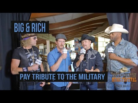 Big & Rich Recognize Military at 2016 Taste of Country Music Festival