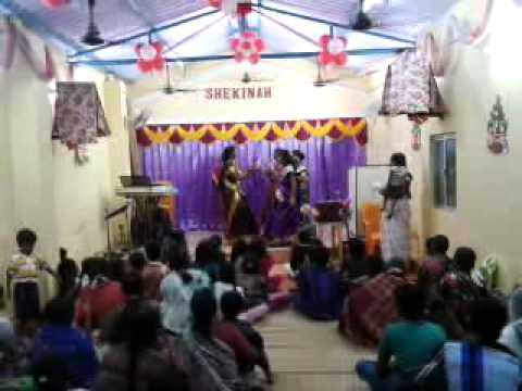 Tamil christian christmas dance Shekinah Apostolic Tabernacle    video-2012-12-23-18-37-42.mp4