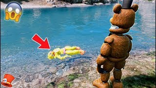 HE FOUND HER BODY IN THE WATER! (GTA 5 Mods For Kids FNAF RedHatter)