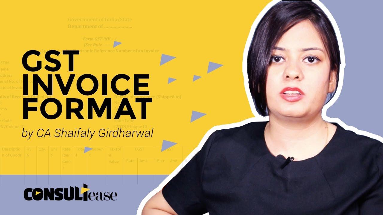 Gst म Sale Bill Gst 2017 Invoice Format In Hindi Gst Sale