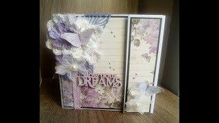 mini album stampéria lilac flowers DT La Tienda De Las Manualidades