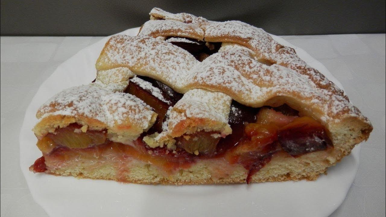 простой пирог со сливами рецепт с фото
