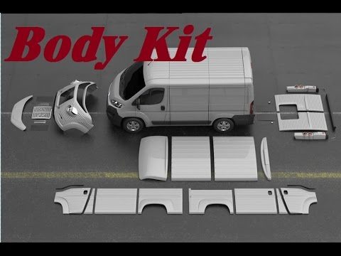 Dodge Conversion Van >> Body Kit Conversion Fiat Citroen Peugeot dodge Old Type H - YouTube