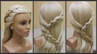 Красивые прически.Французская коса змейкой😊Beautiful hairstyles. French braid snake