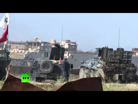 Iraqi Army vs ISIS - troop offensive to recapture Tikrit
