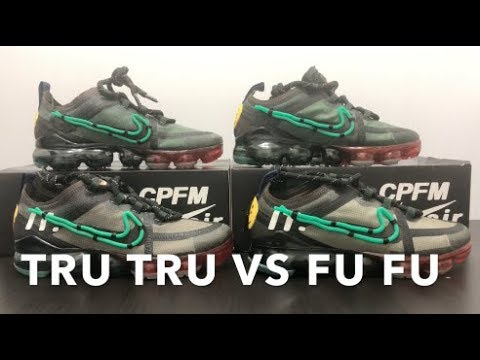 atributo Marchitar Pío  Real VS Fake Nike Vapormax Cactus Plant Flea Market StockX PLUS BLACKLIGHT  TEST - YouTube
