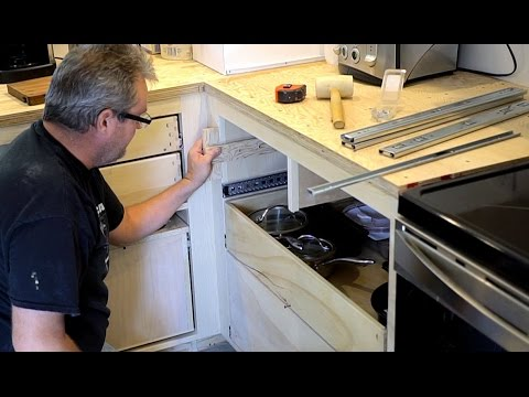 kitchen drawer slides trash can ideas how to install the easy way youtube
