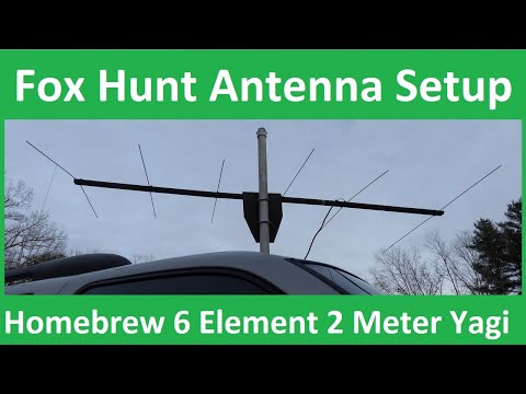 2 Meter Fox Hunt Antenna Setup - Home-brewed 6 Element Yagi