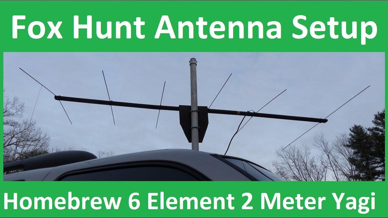 2 Meter Fox Hunt Antenna Setup - Home-brewed 6 Element Yagi