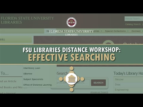 Online Workshop: Effective Searching