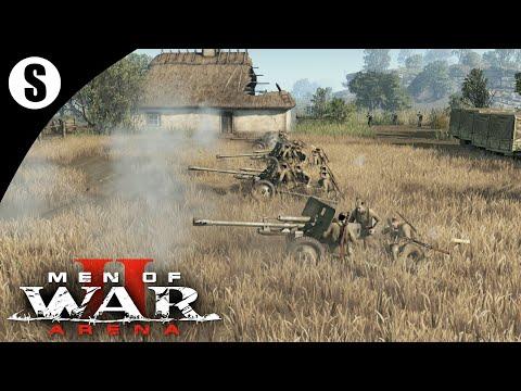 Men Of War 2: Arena ●Геймплей ЗБТ● Противотанковый полк Зис-3 #8