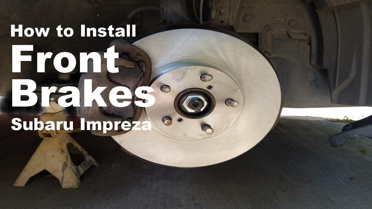 Front Brake Rotors Ceramic Brake Pads for Subaru Legacy Outback 2.5L 13-14