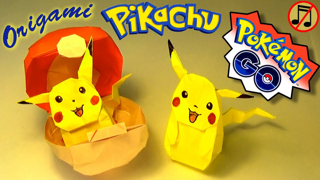 origami pikachu no music youtube