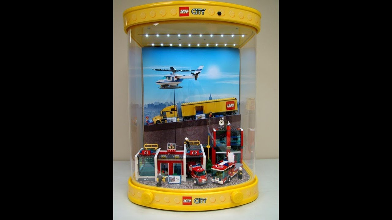 Lego city fire station store display with motion and for Case lego city