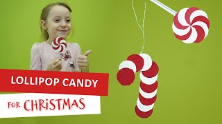 Candy And Lollipop Paper Decorations For Christmas