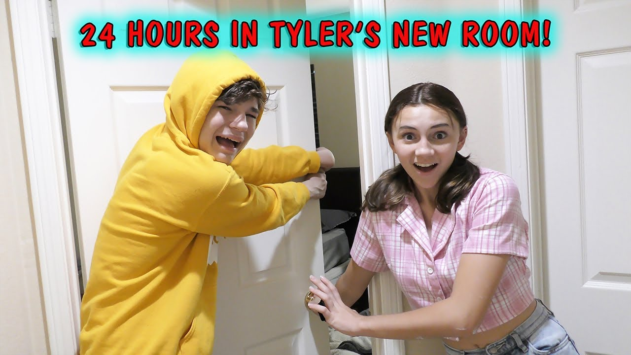 24 HOURS IN TYLER'S NEW ROOM CHALLENGE | We Are The Davises