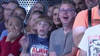 Great stunt by 81 year old Crushes American Ninja Warrior