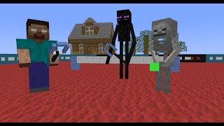 Monster School: Tennis (Minecraft Animation)