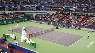 Roger Federer vs. Kei Nishikori @ quarterfinal of Shanghai ATP 1000