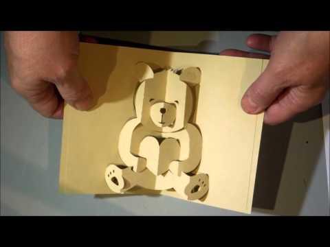Kirigami bear pop up card