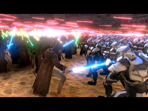 JEDI CLONE WAR!!! | Ultimate Epic Battle Simulator HD