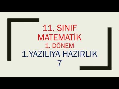 11. Sınıf Matematik 1. Dönem 1. Yazılıya Hazırlık 7