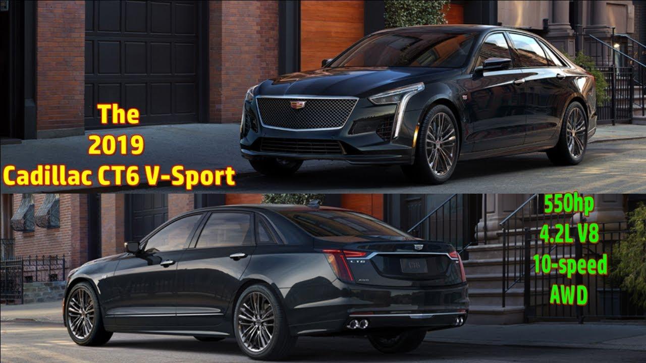 2019 Cadillac Ct6 V Sport 550hp 4 2l V8 10 Speed Youtube
