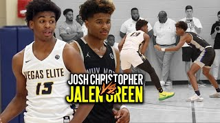 Josh Christopher VS Jalen Green GETS HEATED QUICK!!! TOP 2 SG Go Head To Head at Peach Jam
