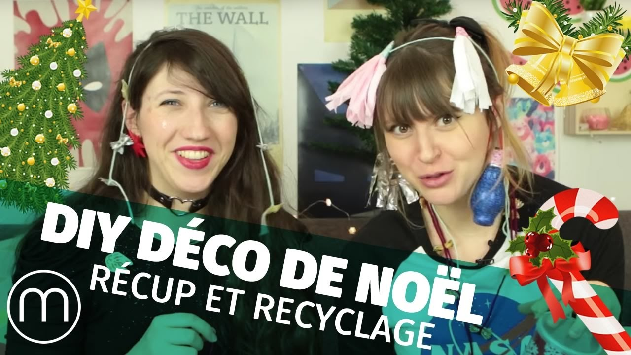 diy d co de no l r cup et recyclage margaux et fannyfique youtube. Black Bedroom Furniture Sets. Home Design Ideas