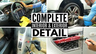 Deep Cleaning A Range Rover Sport! Complete Full Car Interior & Exterior Detailing!