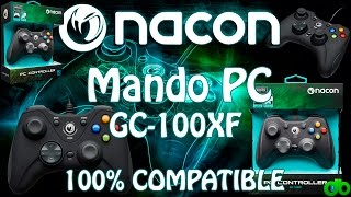 Mando Nacon GC-100XF 100% Compatible Juegos PC (Gamepad DirectInput8 Xinput) Unboxing, Review y Test
