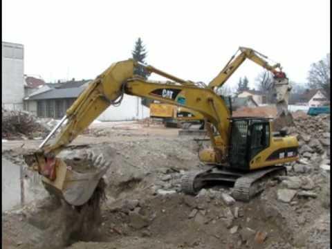 Auer Bauzentrum abbruch des ehemaligen baustoffe auer geländes in erding teil 1