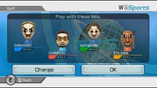 Wii Sports Golf 4 player