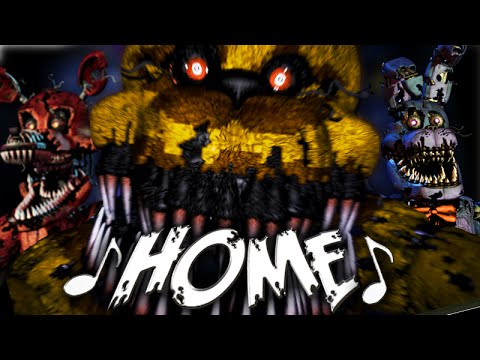 NateWantsToBattle: Home [FNaF LYRIC VIDEO] FNaF Song