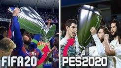 FIFA 20 vs PES 2020 | UEFA CHAMPIONS LEAGUE FINAL COMPARISON (Barcelona vs Real Madrid) HD