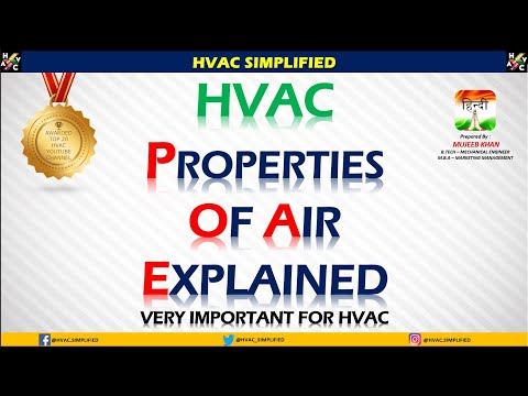 HVAC - AIR And Properties Explained (Very Important Topic)
