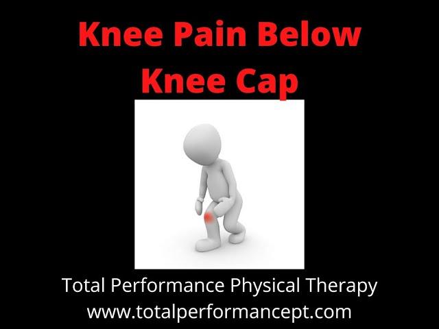 Knee pain below knee cap