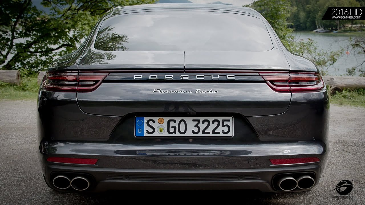 2017 New Porsche Panamera Turbo Volcano Grey Metallic EXTERIOR INTERIOR DESIGN