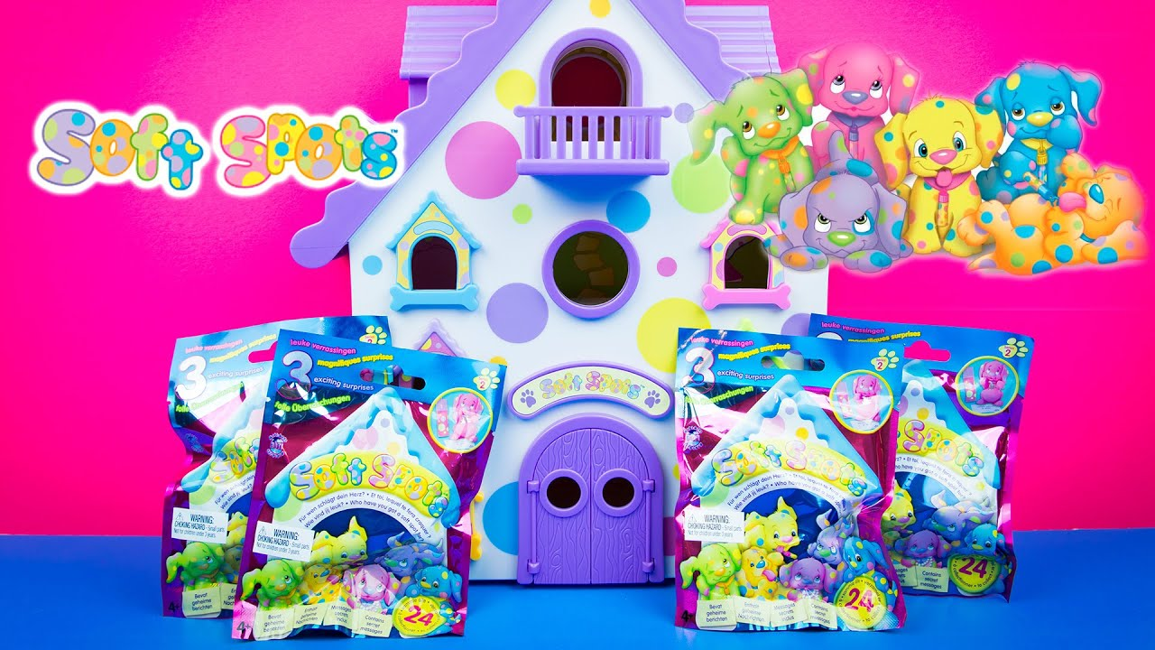 Squishy Mushy Blind Bag : Soft Spots Kennel Hotel & Blind Bags Mystery Surprises Kinder Playtime - YouTube