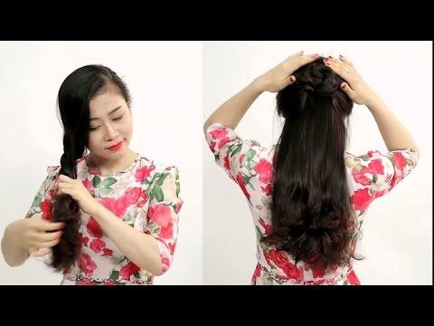 Kiểu tóc tết, đẹp, cực nhanh cho khuôn mặt tròn