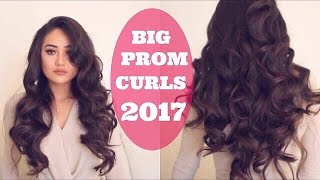 BIG BEAUTIFUL VOLUMINOUS CURLS: PROM HAIR TUORIAL
