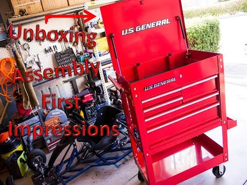 Harbor Freight (U.S. General) 5  Drawer Tool Cart - Unboxing, Assembly Tips, First Impressions