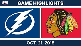 NHL Highlights | Lightning vs. Blackhawks - Oct. 21, 2018