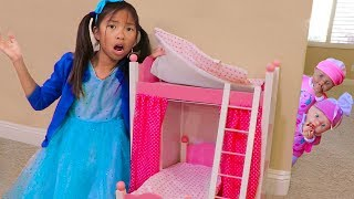 Wendy Pretend Play Babysit & Sleep Bedtime Bunk bed w/ Baby Doll Girl Toys