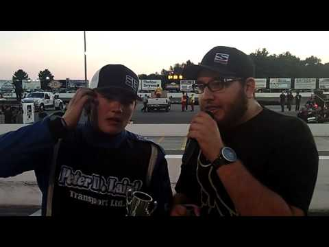 2015-08-15 Sunset Speedway 'The Astronaut' Brandon McFerran Mini Stock Victory Lane Interview