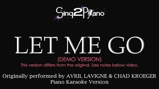 Let Me Go (Piano Karaoke Version) Avril Lavigne & Chad Kroeger