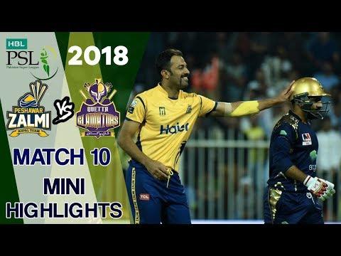 Short Highlights | Quetta Gladiators Vs Peshawar Zalmi | Match 10 | March 1 | HBL PSL 2018
