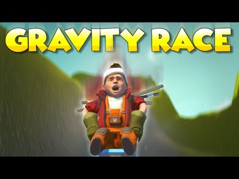 THE GRAVITY RACE! DOWNHILL BARREL RACING and MORE! - Scrap Mechanic Multiplayer Monday