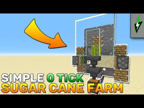 HOW TO BUILD 0 Tick Sugar Cane Farm Minecraft 1.14.4 - Minecraft Tutorial