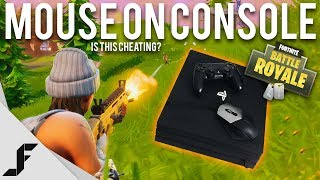 USING A MOUSE ON CONSOLE - Fortnite: Battle Royale (This should not be allowed)
